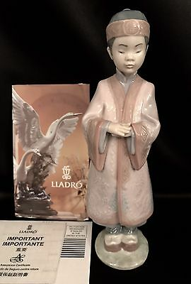 "~Rare~Lladro ""Asian Boy"" Kid (6188 Mint Condition) FREE FAST SHIPPING"