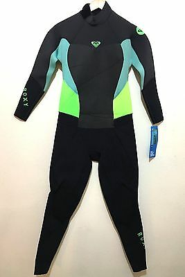 New Roxy Womens Full Wetsuit Back Zip Syncro 3 2mm Nwt Size 14 Retail