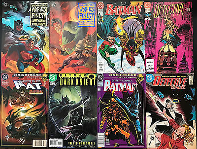 set of 8 BATMAN and BATMAN related comics from DC average condition VF/NM