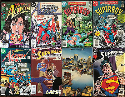 set of 8 SUPERMAN and SUPERMAN related comics from DC average condition is VF
