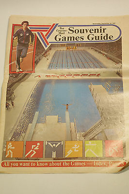 Vintage Courier Mail Newspaper Official Souvenir Commonwealth Games Guide 1982