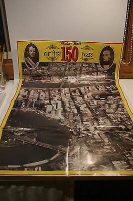 Vintage Newspaper POSTERS Southbank & Brisbane Queensland 150 Year Celebrations