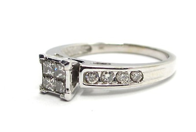 9ct White Gold Diamond ring 0.50ct