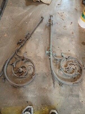 Pair Of Antique Light Fittings Nice  Large