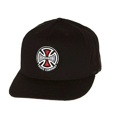 Independent Truck Co Black Adjustable Snap Back Skateboard Hat