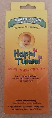 New Happi Tummi Colic & Gas Relief Herbal Refill Pouch Calms Crying Instantly
