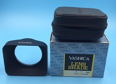 Vintage Yashica Rectangular 54mm Clamp On Push On Metal Lens Hood