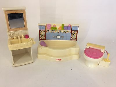 Fisher Price - Loving Family / Dream Dollhouse - Bathroom Furniture