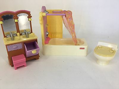 Fisher Price - Loving Family / Dream Dollhouse - Bathroom Furniture #2