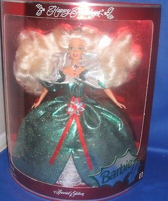 Happy Holidays Barbie 1995 Special Edition Collector Barbie Doll, Nrfb
