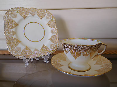 "Vintage Hammersley ""Parcels Of Time"" Trio 1976 Made In England 1930s"