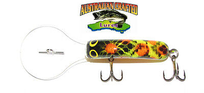 Australian Crafted Lures- 50mm slim invader wagga frog col;8, 30ft a.c.lures