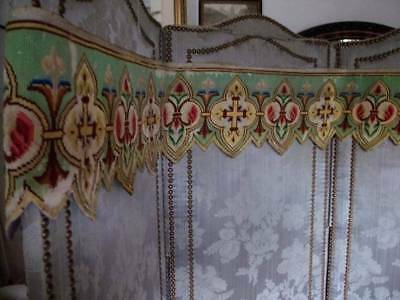 Devine 19th Century Tapestry  French Alter Fronta Valance