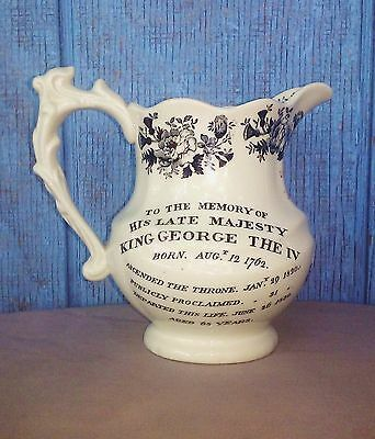 Royal Doulton Water Jug for King George IV Old Scotch Whiskey Memorial Pitcher