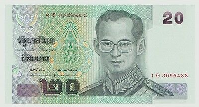 Thailand 20 Baht Current Issue CFU Serial 1G 3696438