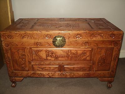 ****** Antique Replica Wooden Japanese Storage Chest ******
