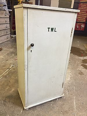 Vintage Antique Homemade Painted Cupboard Cabinet Military Industrial