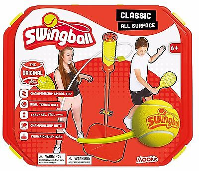 Mookie Classic All Surface Tennis Swingball Height Adjustable Wider Base *New*
