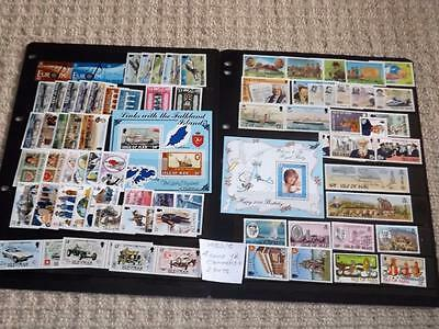 Isle Of Man-1982/5-4 Complete Years Commem Sets+Min Sheets-Unmounted Mint -Mnh