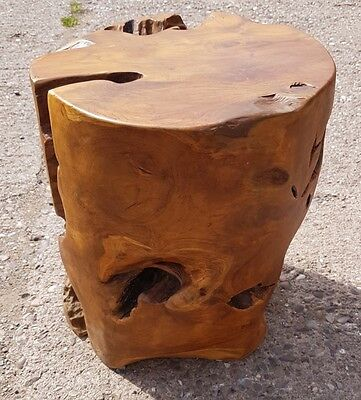 teak root solid wood cube side table lamp table stool round wood coffee table