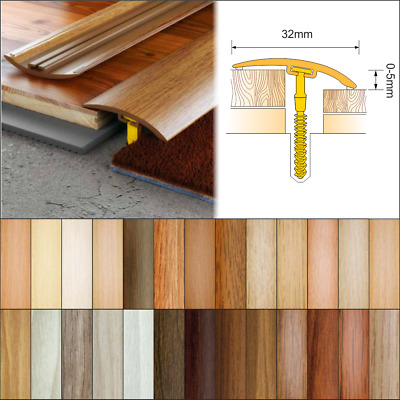24 Colours Wood Effect Door Edging Floor Trim Threshold 32mm Laminate