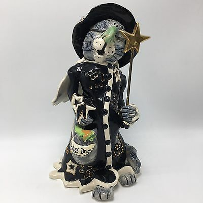 Charlie Cat Witch Witches Brew Halloween 2003 Blue Sky Claywork Heather Goldminc