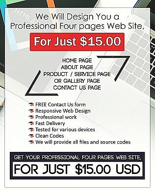 Four pages Web Site Design