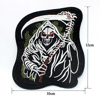 New Embroidered Applique Iron On Patch design DIY Sew Iron On Skull Patch Badge