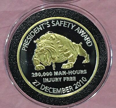 Gold Gilded Proof Coin West Elk Mine 1 Troy oz .999 Fine Silver Rare Round Medal