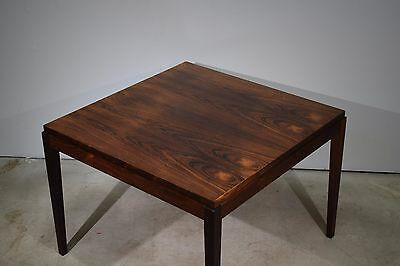 A square Danish mid century rosewood coffee table