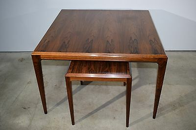Two  Danish mid century rosewood tables by Johannes Andersen, CFC Silkeborg