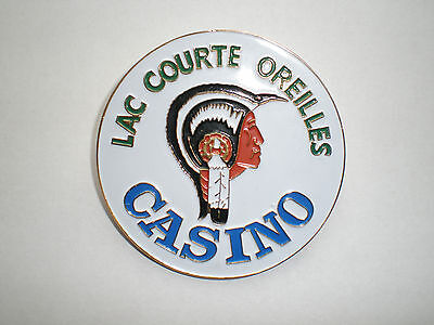 Wisconsin Lac Courte Oreilles Casino Tribal Gaming Indian Tribe pin back button