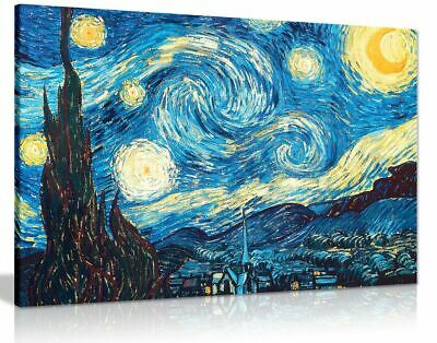 Vincent Van Gogh Starry Night Canvas Wall Art Picture Print