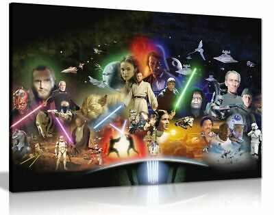 Star Wars Collage Movie Canvas Wall Art Picture Print
