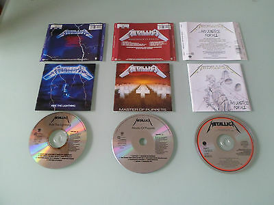 Metallica Cd Collection / Lot - Early Press Cd's
