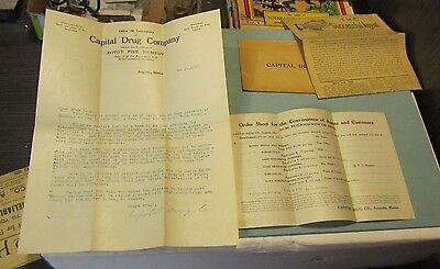1910 Capital Drug Company Augusta Maine Advertising Materials Testimonials
