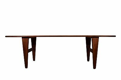 Danish mid century solid teak coffee table, Illum Wikkelsø, Model J & E