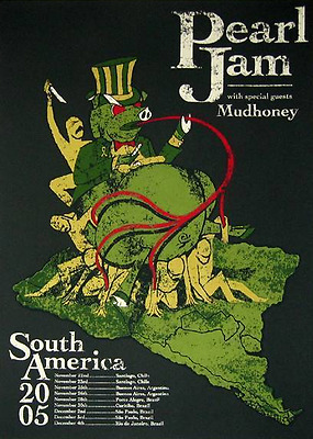 Image result for pearl jam south america 2005 poster