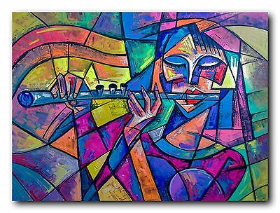 art abstract cubism modern original oil Painting  no frame