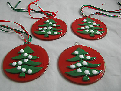 Waechtersbach Christmas Tree Glass Ornaments New Germany