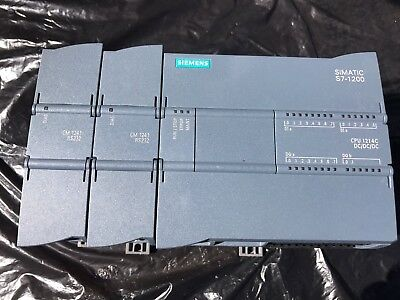 Siemens Simatic S7-1200 CPU 6ES7 214-1AG31-0XB0 And 2 X 6ES7 241-1AH32-0XB0