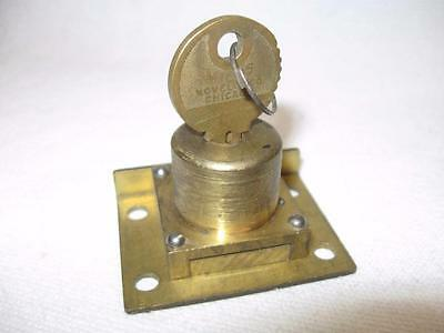 MILLS Novelty Co antique slot machine lock + key w/MATCHING NUMBERS Bell#N77748