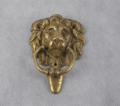 Vintage Architectural Brass Lions Head Door Knocker - FREE UK POSTAGE