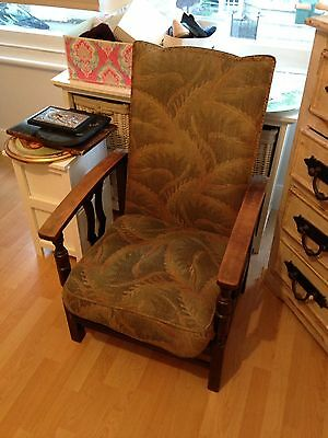 Vintage Armchair Art Deco Upholstered Recliner Rare