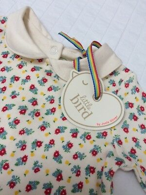 Little Bird Girls Floral Romper Suit. New Born / 0-3 M. New With Tags