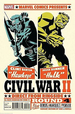 Marvel 2016 Civil War Ii #4 Variant Cover By Michael Cho 1St Print Comic Nm