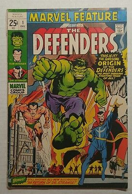 Marvel Feature #1 (1971 Marvel) First Appearance of The Defenders