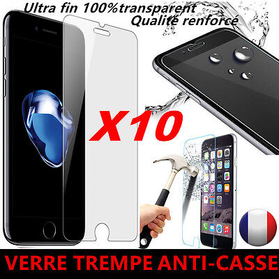 LOT Vitre iPhone 7/SE/6/6S/5/5S/4 protection verre trempé film protecteur écran