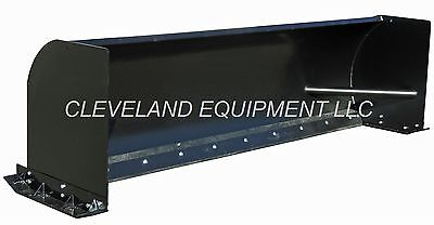 """NEW 96"""" HD SNOW PUSHER ATTACHMENT Skid Steer Loader Scoop Box Push Plow Blade 8'"""