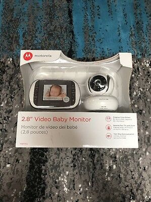 "Motorola MBP35S 2.8"" Color and IR Digital Video Baby Monitor with Zoom  New!"